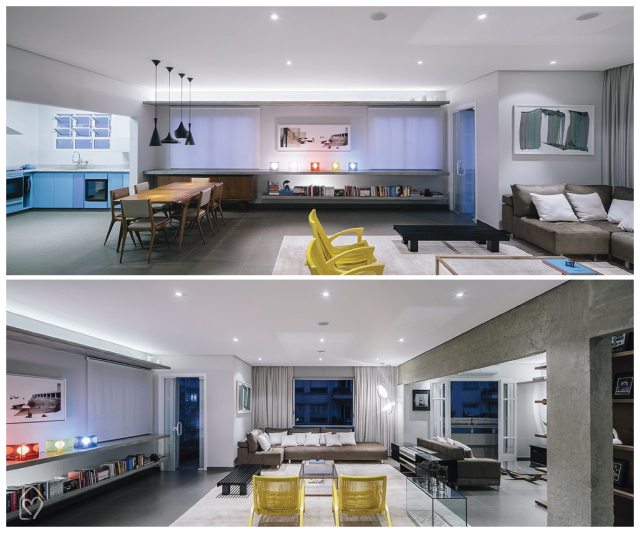Apê Maranhão - Flavio Castro #arquitetura #interiores #apartamento #decor #concreto #casadasamigas