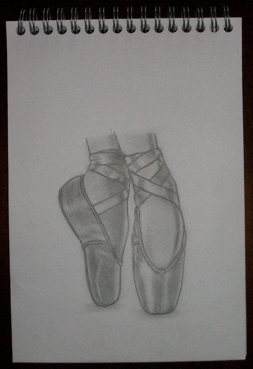 Pointes de danse classique acrylique pinterest - Dessiner une danseuse ...