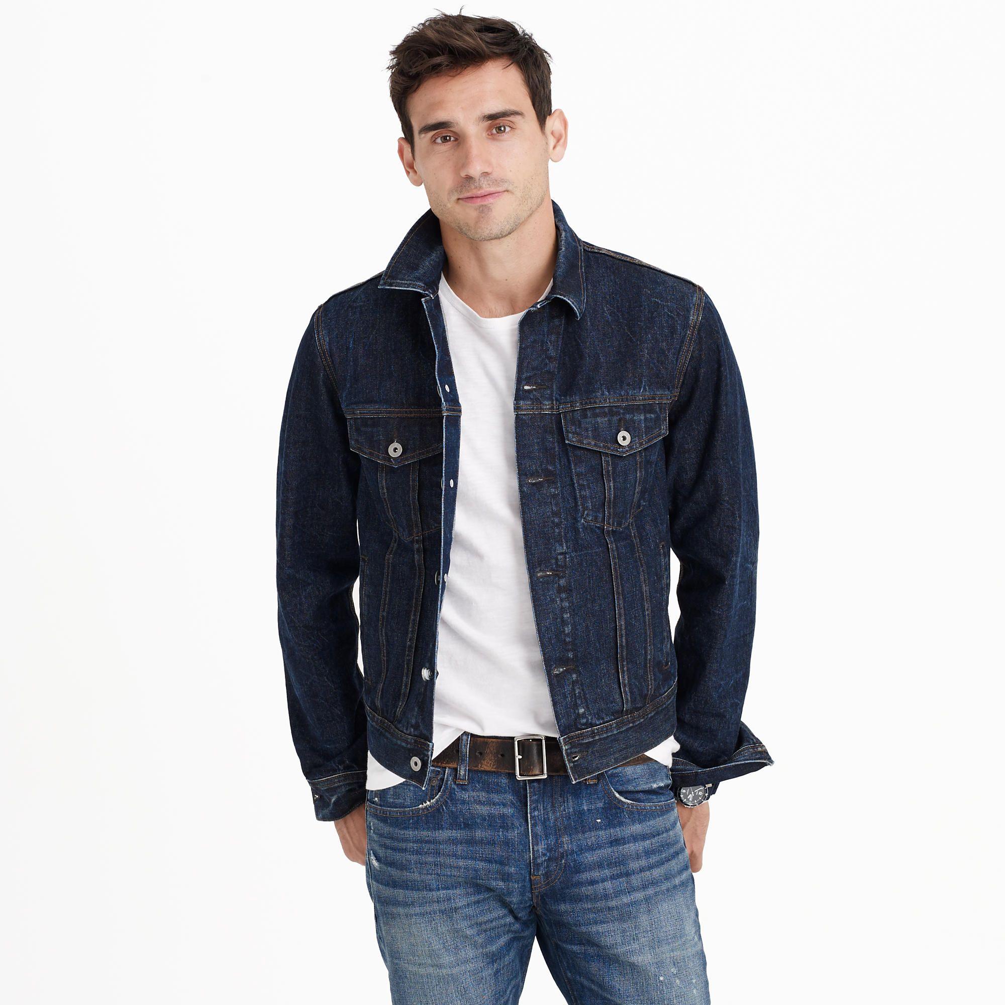 может сформировать с чем носить мужскую джинсовую куртку фото одной социальных сетей