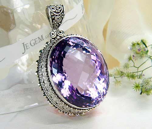 Jegem designer sterling silver amethyst pendant jewelry box jegem designer sterling silver amethyst pendant aloadofball Images
