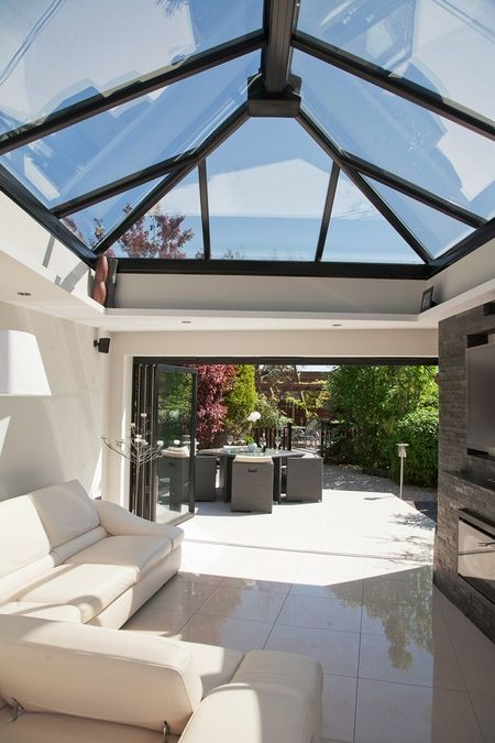 Beautiful Image Detail For  To Flood Into Your New Flat Roof Extension With A Glass  Roof Lantern .