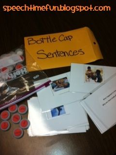 Expanding Sentences Bottlecap Activity