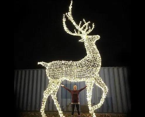 Large Led Light Up Reindeer Outdoor Decorations In 2020 Reindeer Outdoor Decorations Decorating With Christmas Lights Reindeer Lights