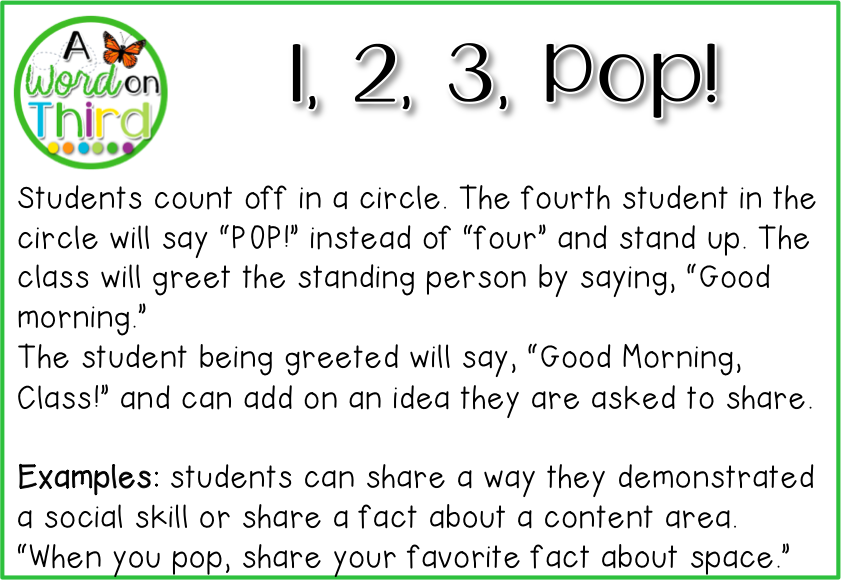 4 morning meeting greetings your students will love morning 4 morning meeting greetings your students will love by a word on third m4hsunfo