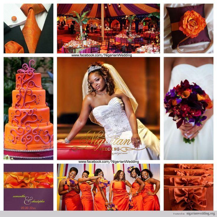 Plum Wedding Color Schemes Nigerian And Burnt Orange Scheme