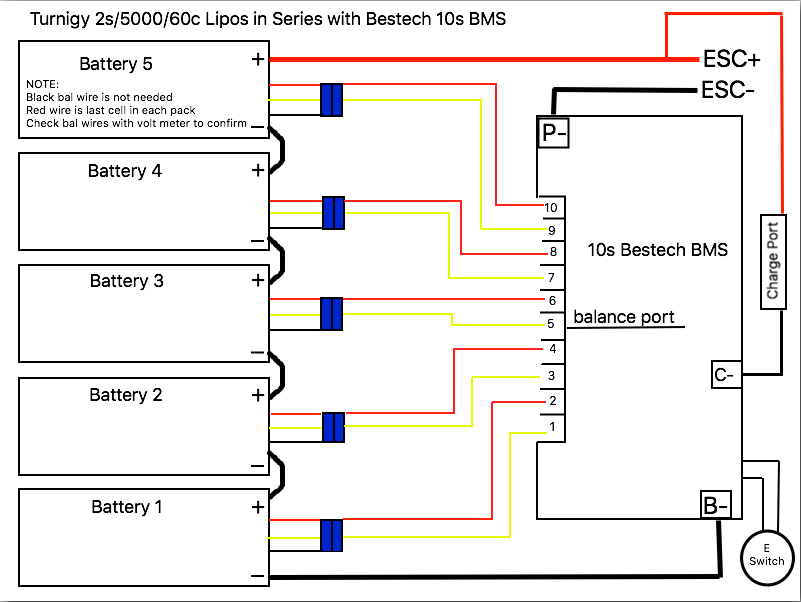 Lion Wiring Diagram Balance 4 Cells Google Search Connection Lipo Cell