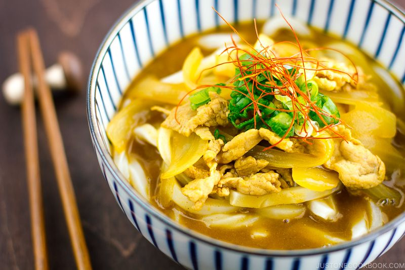 Curry Udon カレーうどん Just One Cookbook Recipe In 2020 Udon Recipe Curry Udon Easy Japanese Recipes