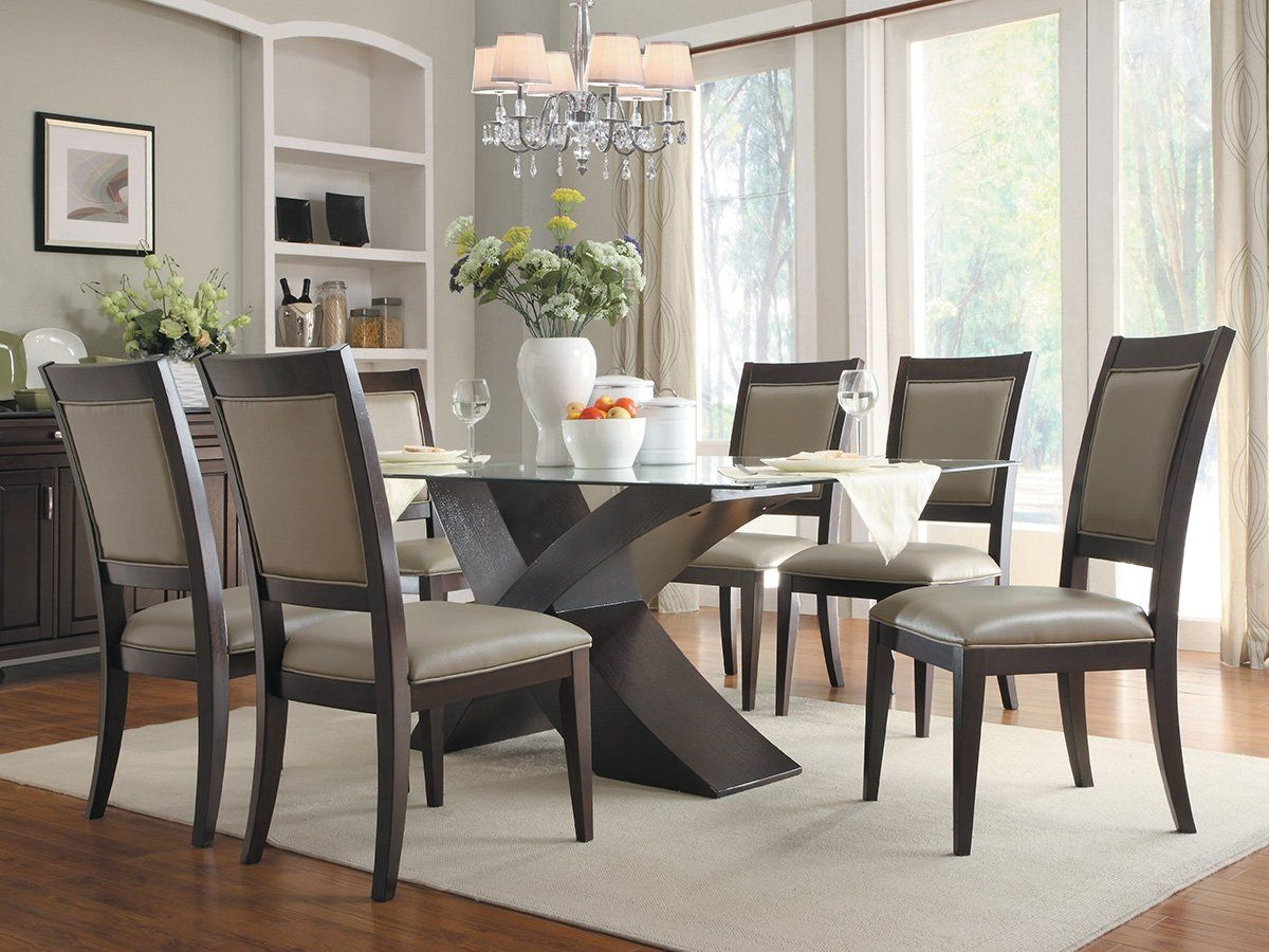 Amazon Com Bering X Base Dining Table By Home Elegance In Dark