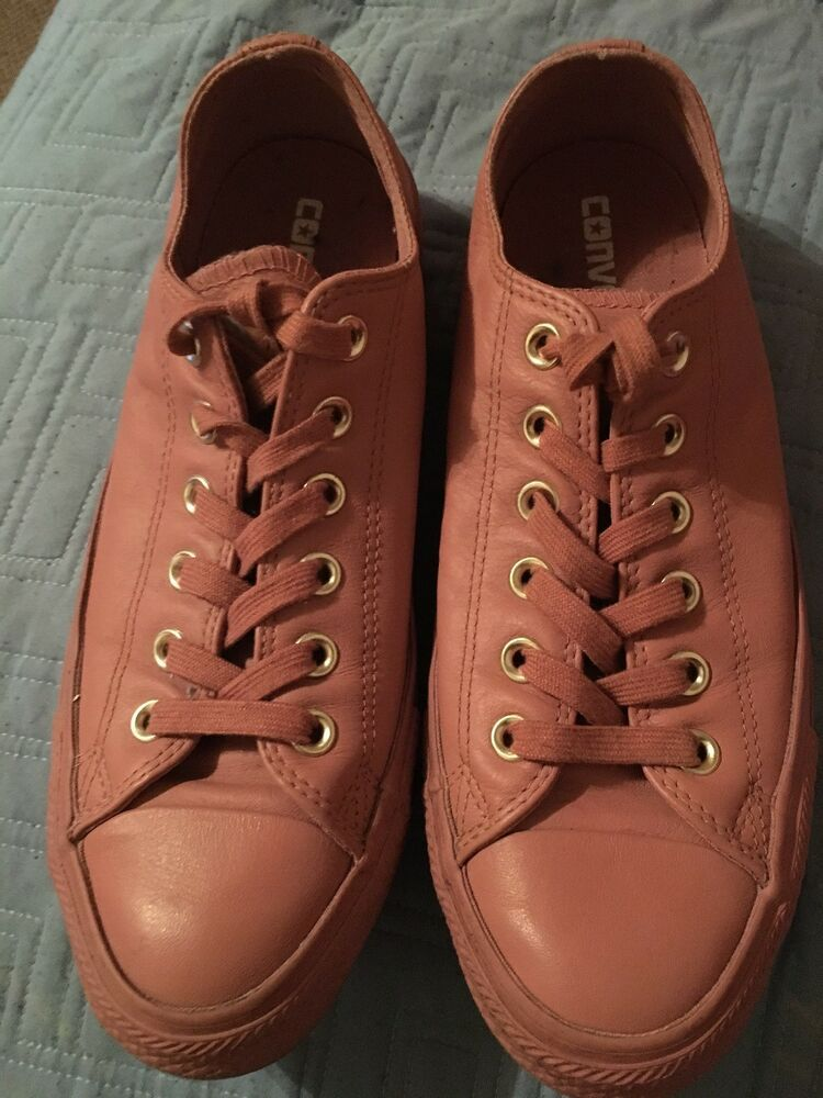 3c95f888d01 Converse Chuck Taylor All Star Low Top Pink Leather Womens Size 8.5 Mens  6.5  fashion  clothing  shoes  accessories  unisexclothingshoesaccs ...