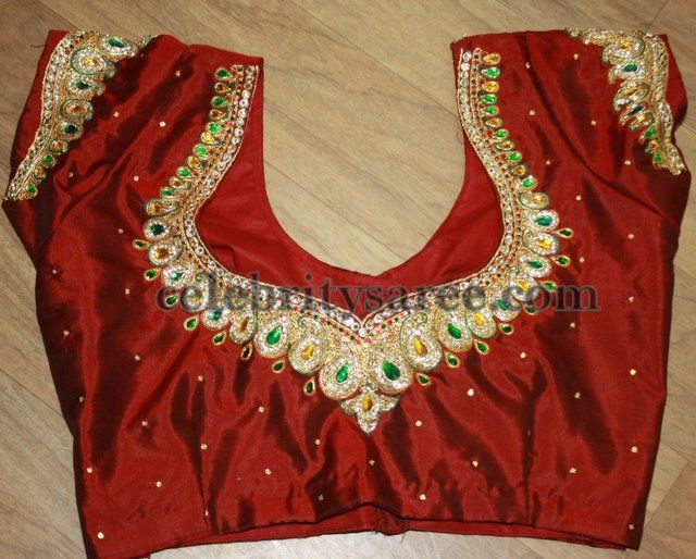Embroidery Maggam Work Blouse Designs Blouse Designs Saree Blouse