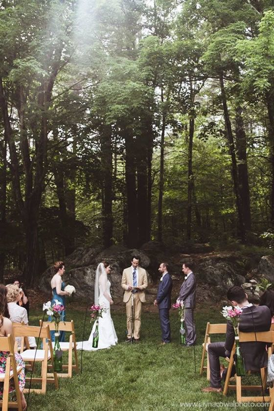 Woodsy Outdoor Wedding At Friendly Crossways Retreat Center Massachusetts VenuesBoston