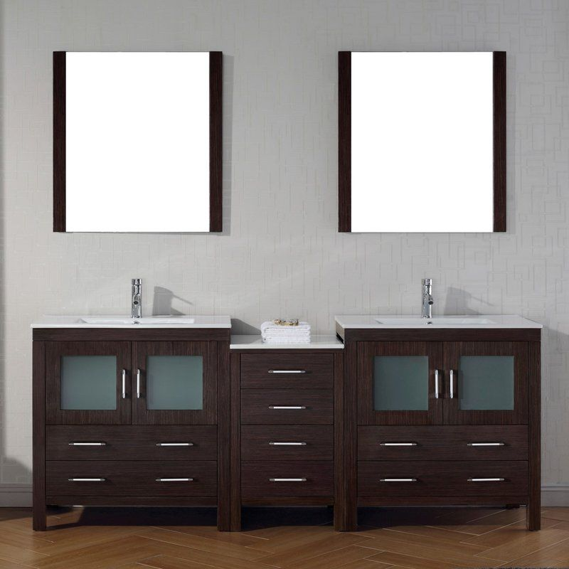 Cartagena 81 Double Bathroom Vanity Set With Mirror Double