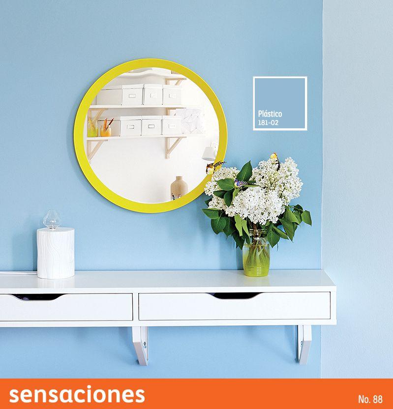 Utiliza tonos en #azul para darle luminosidad a tus espacios