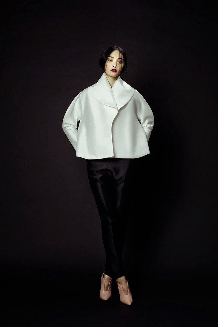 Phuong My A/W 2013-14 - interesting cropped jacket shape achievable with a silk blend