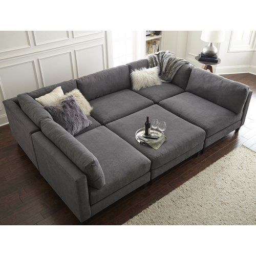 120 wide symmetrical modular sectional
