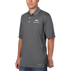 Denver Broncos Majestic Field Classic Cool Base Synthetic Polo - Charcoal