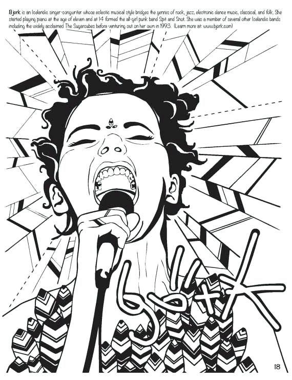 rock star coloring pages feminist sketchbooks colouring rock star - best of coloring pages barbie rockstar