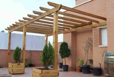 Pergolas de madera planos buscar con google jardines - Pergola bioclimatica precio ...