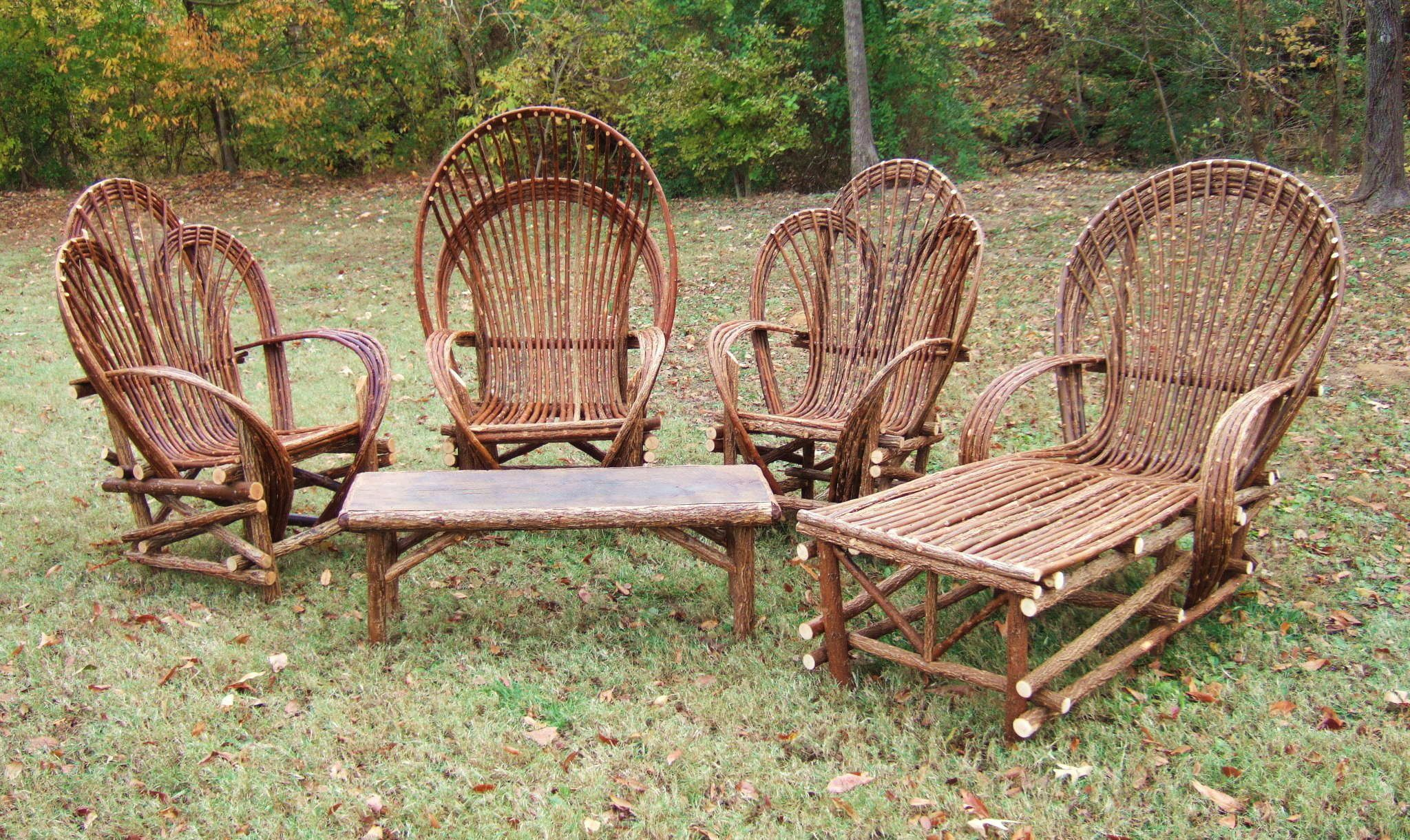 Tree Branch Rocking Chair Restoration Hardware Cushions This Is The Willow Furniture That My Grandpa Builds He