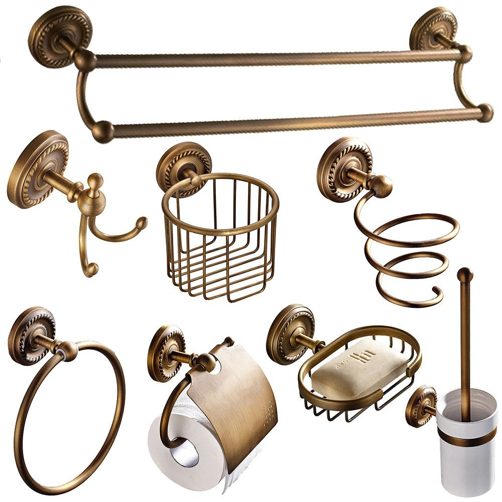 European Antique Bathroom Accessories Sets Brass Bathroom Products ...