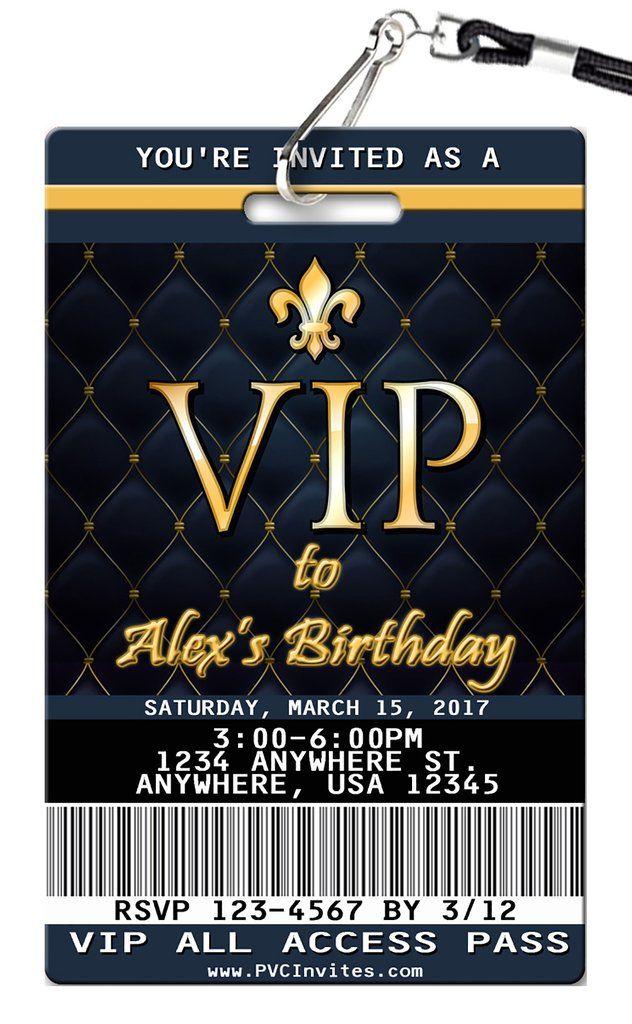 VIP Birthday Invitation | Pinterest | Vip, Birthdays and Sweet 16