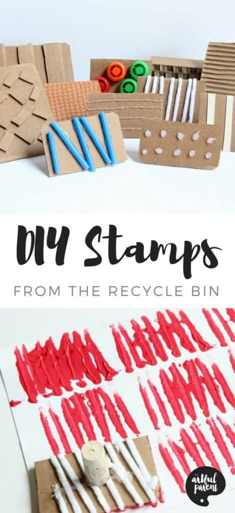 Make DIY Stamps with Cardboard & Textures (+ Spring Art Project)