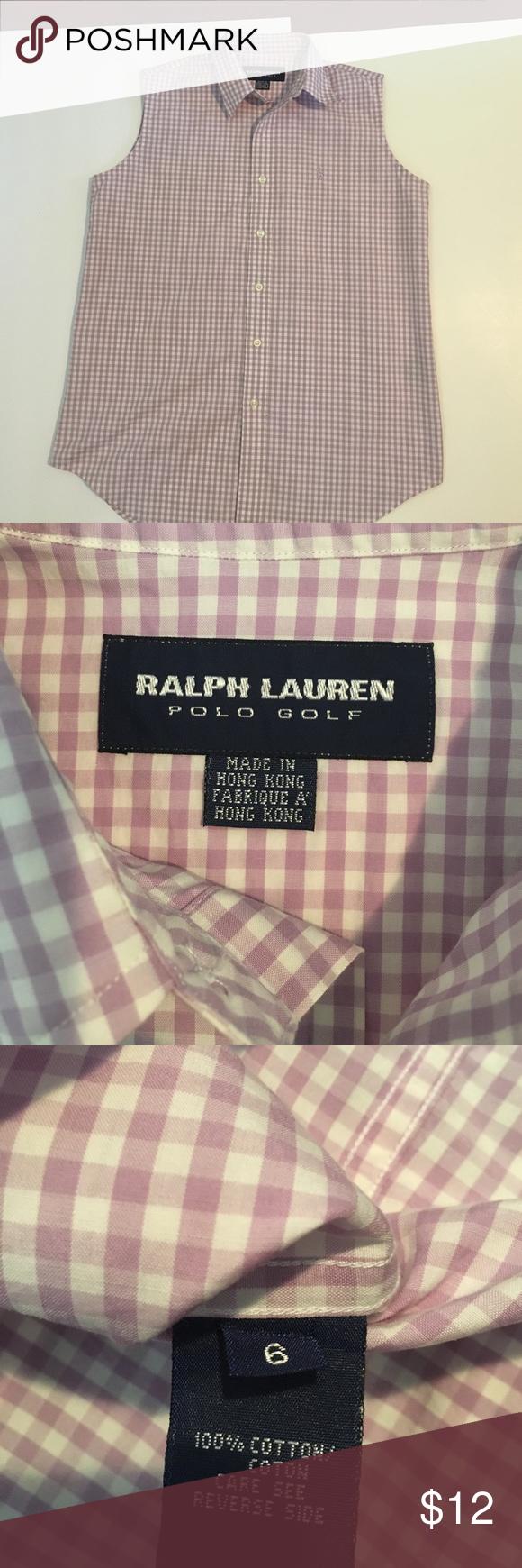 Polo Golf shirt 6 Crisp gingham shirt 100% cotton gently used Ralph Lauren Tops Blouses