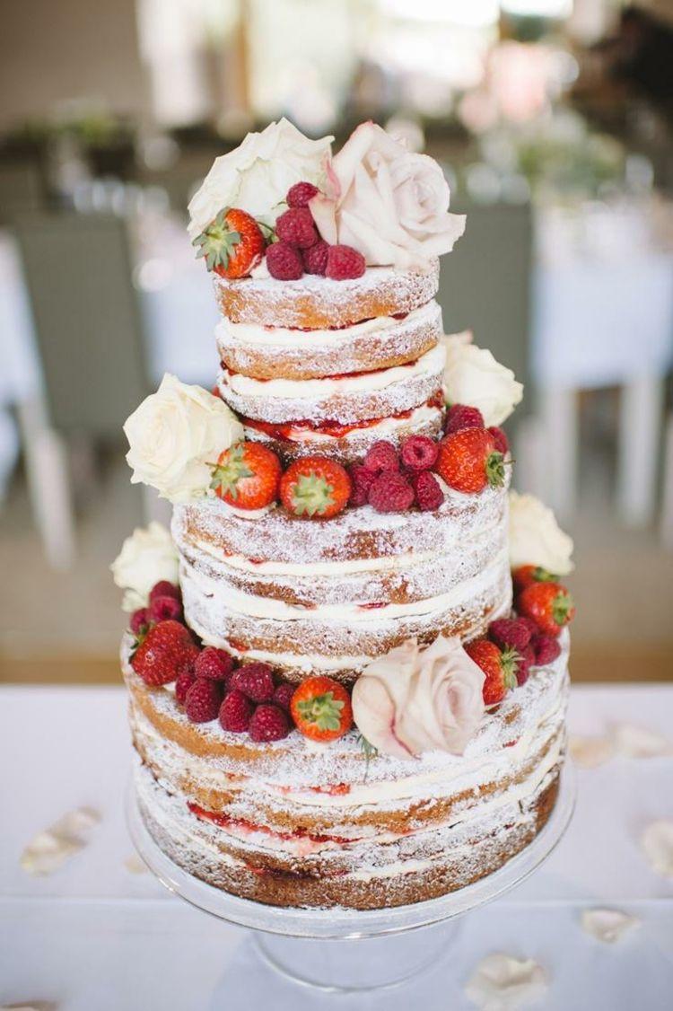 Hochzeitstorte ohne fondant deko fr chte erdbeeren himbeeren hochzeittorten hochzeitstorte - Hochzeitstorte dekorieren ...