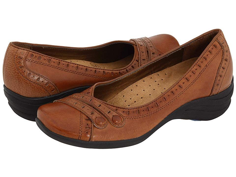 Hush Puppies Burlesque Women's Slip on Shoes Tan Leather ...