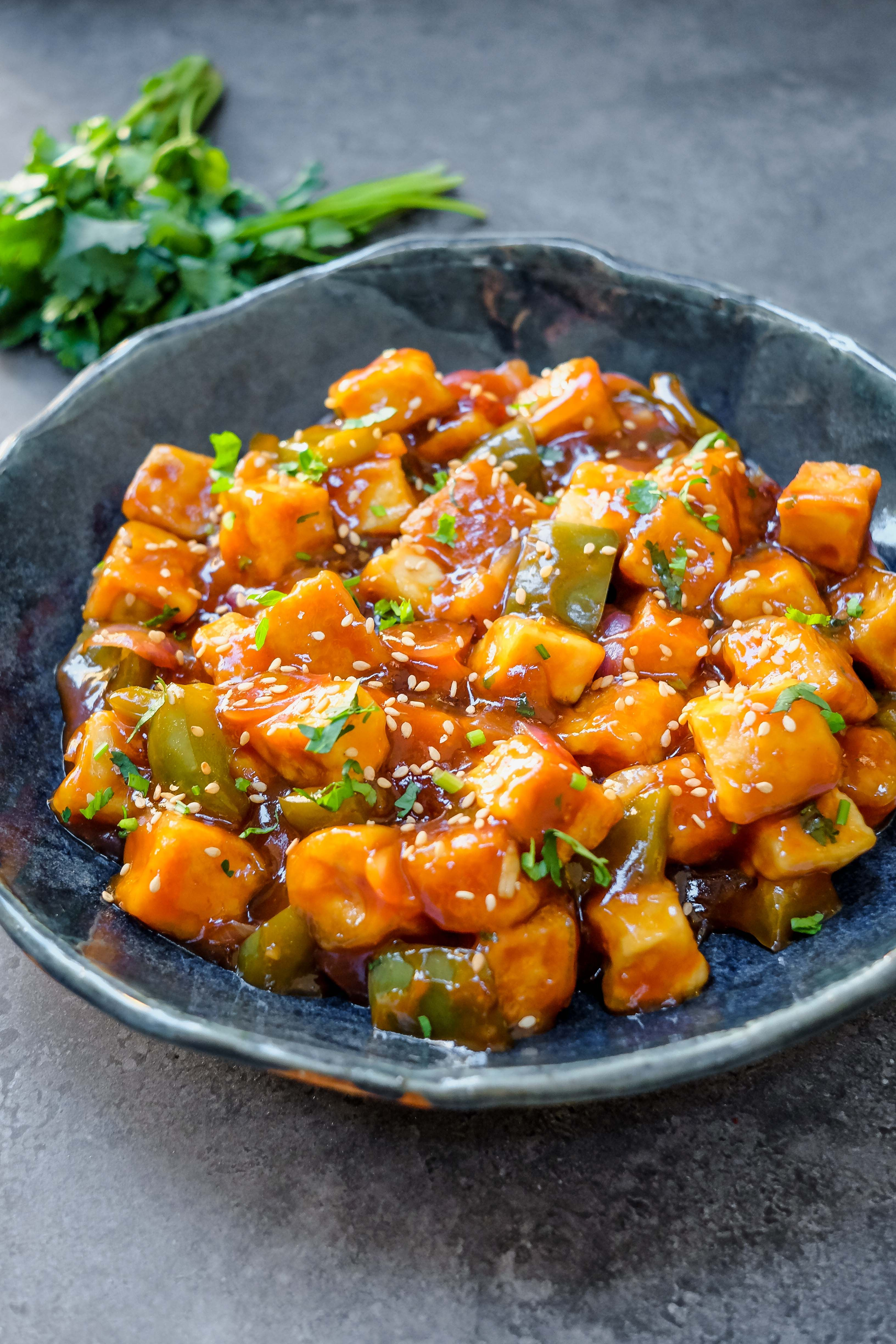 This vegan sweet and sour tofu recipe reminds me of the