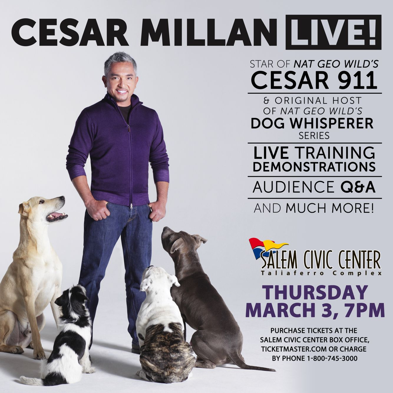 Pin By Salem Civic Center On Family Shows Cesar Millan Dogs