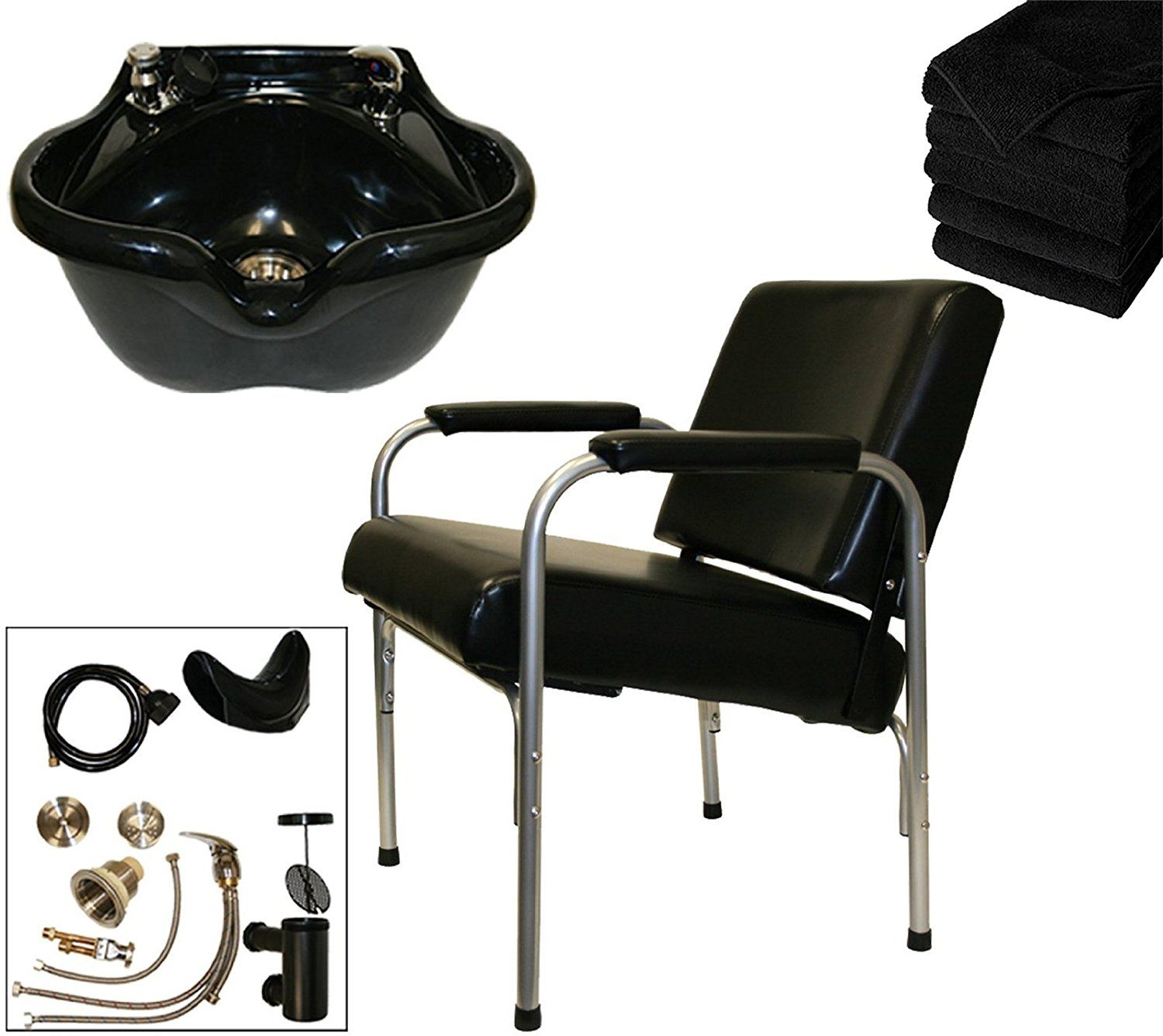 LCL Beauty Shampoo Package: Autorecline Shampoo Chair and Heart Shaped Acrylic Fiber Shampoo Bowl >>> Details can be found by clicking on the image.
