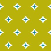 Diamond star-chartreuse
