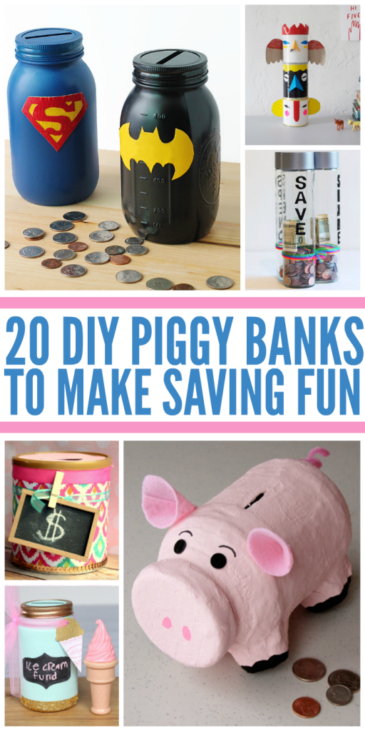 20 Fun Diy Piggy Banks Banks Pinterest Bricolage Tirelire