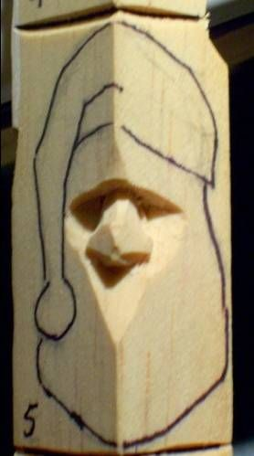 How to carve wood santa - Google Search | Wood Project Ideas | Wood