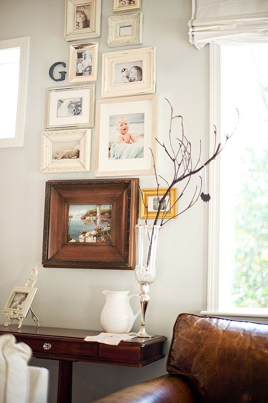 Photo_Wall_Display_Arrangement HOUSE - Home styling Pinterest