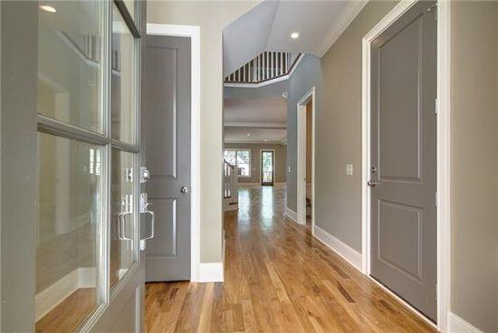 Entryway...love the interior door color
