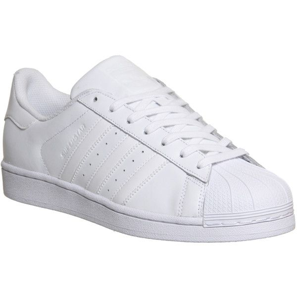 size 40 a39b5 2021e Adidas Superstar 1 ( 100) ❤ liked on Polyvore featuring shoes, trainers, unisex  sports, white mono foundation, sports footwear, stripe shoes, adidas shoes,  ...