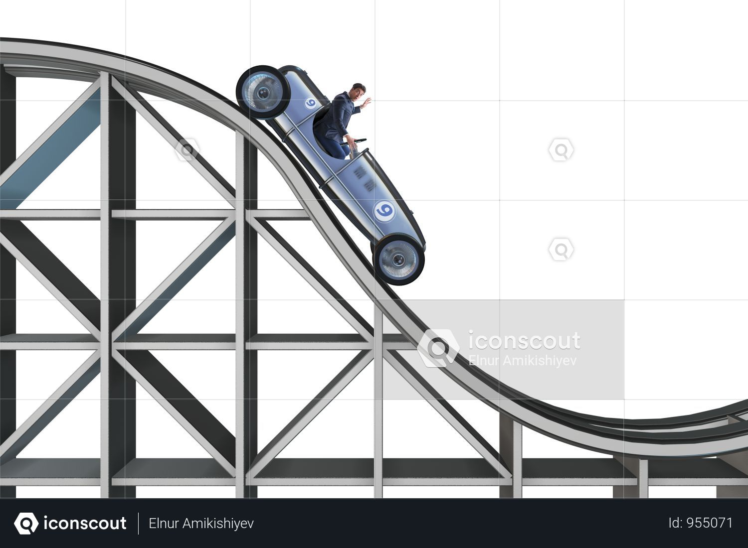 Premium Businessman Driving Sports Car On Roller Coaster Photo Download In Png Jpg Format Roller Coaster Roller Sports Car