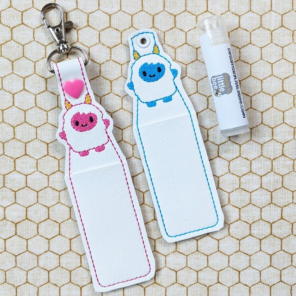 Yeti Lip Balm Holder Snap Tab Eyelet Key Fob Set December