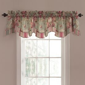 Waverly 18 In L Vapor Spring Bling Scalloped Valance Valance Window Treatments Valance Sliding Glass Door Curtains