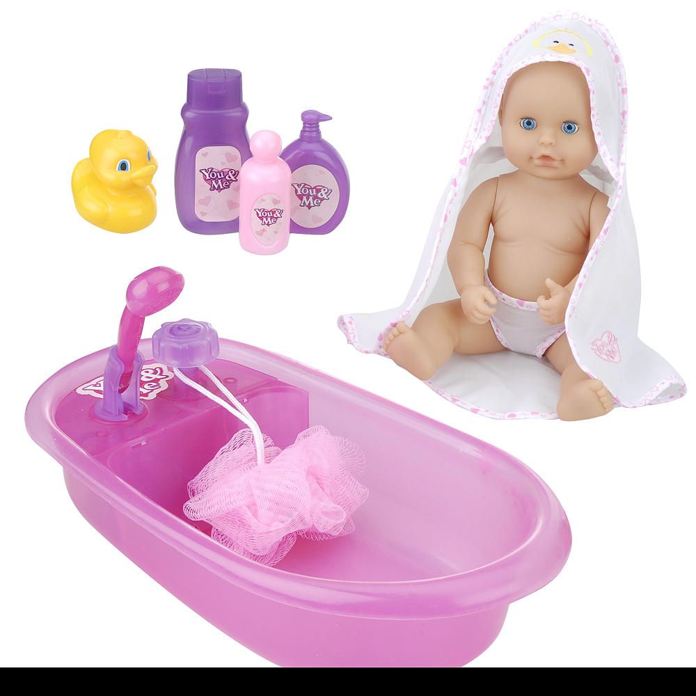 you me 12 inch baby doll bath tub bath tubs baby. Black Bedroom Furniture Sets. Home Design Ideas