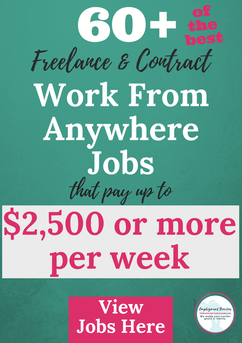 Best Work From Home Freelance + Contract Jobs | Start Making