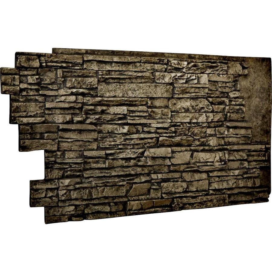 Ekena Millwork Faux Stone Siding 8 33 Sq Ft Grey Faux Stone Veneer Pn202nrgr In 2020 Stacked Stone Walls Stone Wall Panels Stone Veneer Panels