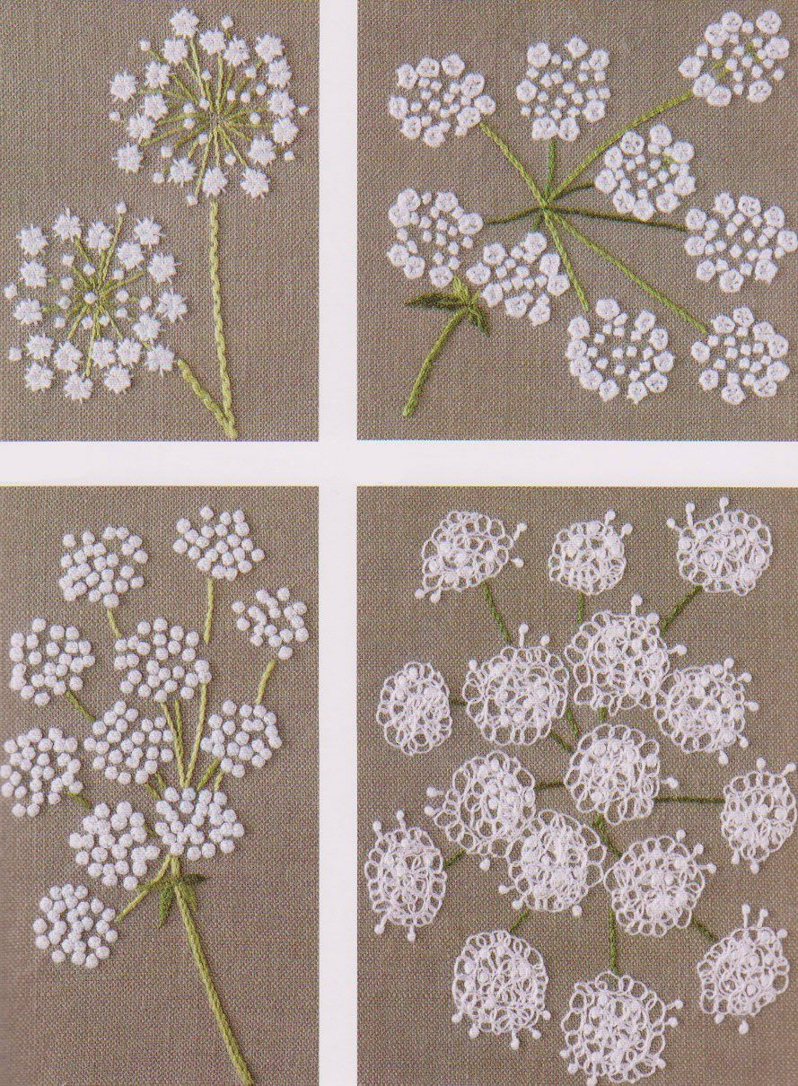 No pdf pattern of how to do flower hand embroidery vintage