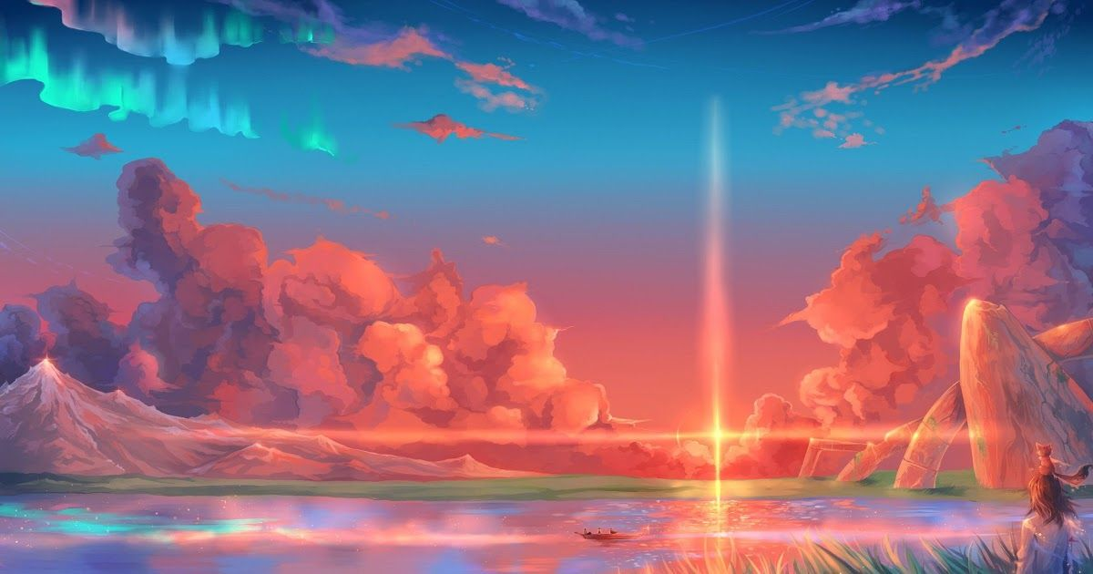 Aesthetic Anime Scenery Wallpaper Phone Di 2020 Dengan Gambar