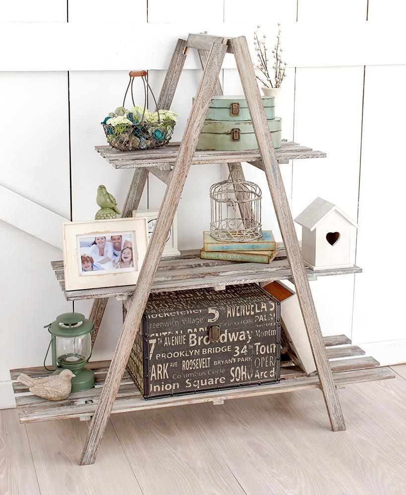 Tier aframe wood shelving the lakeside collection home design