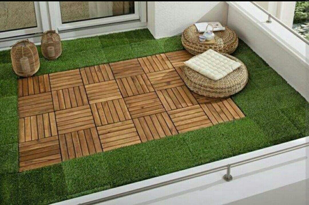 Exemple De Transition Bois Faux Gazon Jardin De Petit De