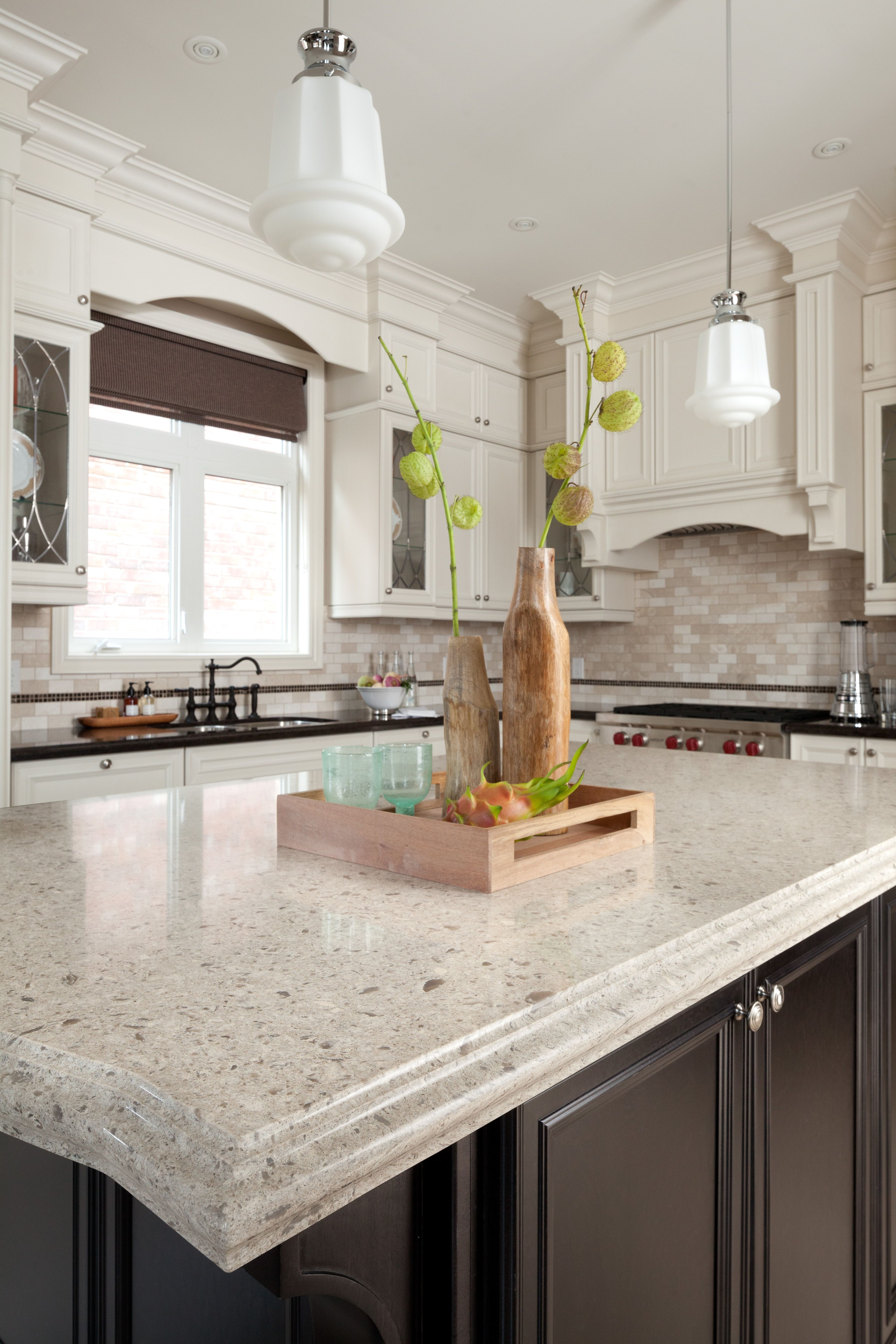 Cambria Becomes Sculptural Art & Functional Decor In The Hands Of Cool Latest Designer Kitchen Decorating Design