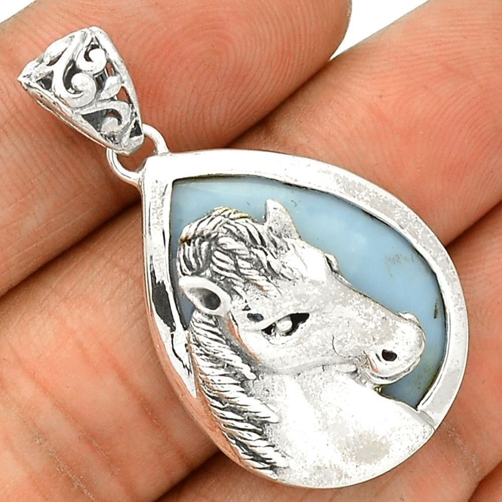 Horse - Owyhee Opal 925 Sterling Silver Pendant Jewelry SP215225 #XTREMEGEMS